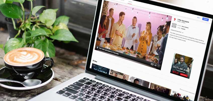 Digital Media on Laptop